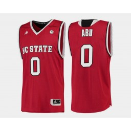 Youth NC State WolfPack #0 Abdul-Malik Abu Red Road Authentic College Basketball Jersey