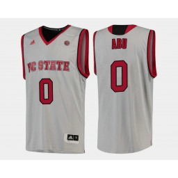 Youth NC State WolfPack #0 Abdul-Malik Abu White Home Authentic College Basketball Jersey