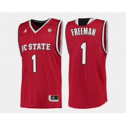 Youth NC State WolfPack #1 Lennard Freeman Red Road Authentic College Basketball Jersey