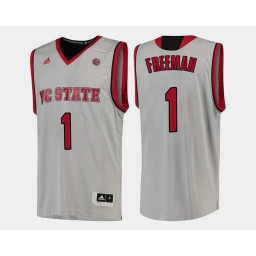 Youth NC State WolfPack #1 Lennard Freeman White Home Authentic College Basketball Jersey