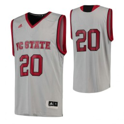 NC State Wolfpack #20 Authentic College Basketball Jersey Gray
