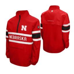 Nebraska Cornhuskers Scarlet Alpha Windshell Quarter-Zip Jacket
