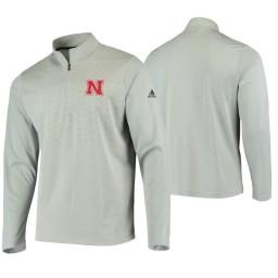 Nebraska Cornhuskers Gray College UPF Quarter-Zip Jacket