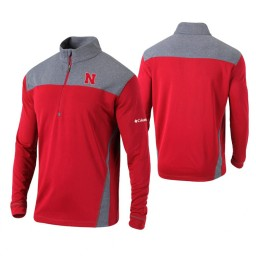 Nebraska Cornhuskers Scarlet Omni-Wick Standard Quarter-Zip Jacket