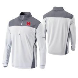 Nebraska Cornhuskers White Omni-Wick Standard Quarter-Zip Jacket