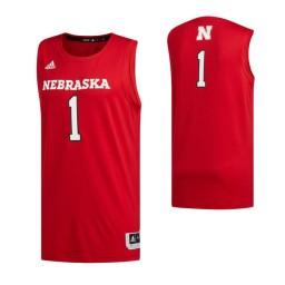 Nebraska Cornhuskers #1 Basketball Authentic College Basketball Jersey Scarlet