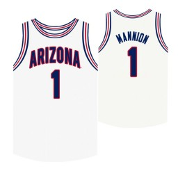 Youth Arizona Wildcats #1 Nico Mannion White Authentic College Basketball Jersey