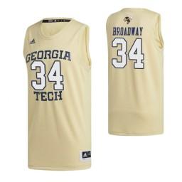 Georgia Tech Yellow Jackets 34 Niko Broadway Swingman Jersey Gold