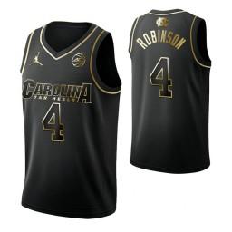 Brandon Robinson North Carolina Tar Heels Black Golden Edition Authentic College Basketball Jersey