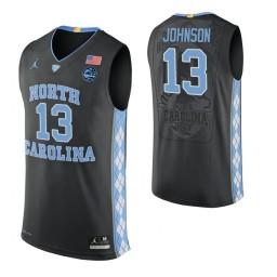 Cameron Johnson North Carolina Tar Heels Black Authentic College Basketball Jersey