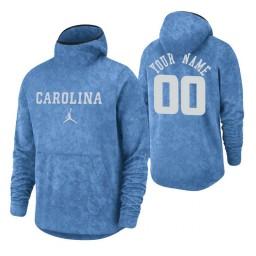 North Carolina Tar Heels Custom Carolina Blue Basketball Spotlight Pullover Hoodie