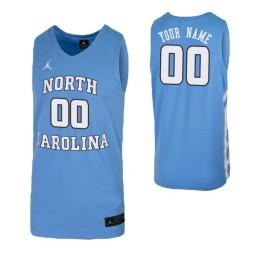North Carolina Tar Heels Replica Custom Jersey Carolina Blue