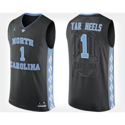 North Carolina Tar Heels NO. 1 Black Alternate Authentic College Basketball Jersey
