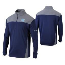 North Carolina Tar Heels Navy Omni-Wick Standard Quarter-Zip Jacket