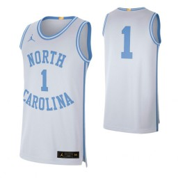 North Carolina Tar Heels #1 Retro Limited Authentic College Basketball Jersey White