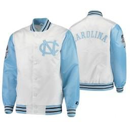 North Carolina Tar Heels White Carolina Blue The Legend Full-Snap Jacket