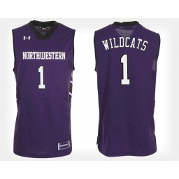 Northwestern Wildcats NO. 1 Purple Home Authentic College Basketball Jersey