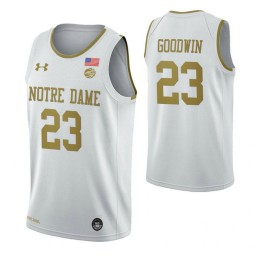 Dane Goodwin Notre Dame Fighting Irish White Authentic College Basketball Jersey