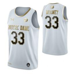 John Mooney Notre Dame Fighting Irish White Golden Edition Authentic College Basketball Jersey