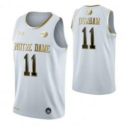 Juwan Durham Notre Dame Fighting Irish White Golden Edition Authentic College Basketball Jersey