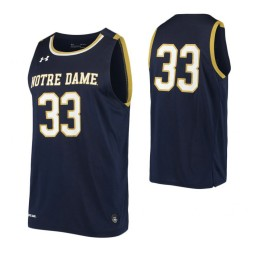 Notre Dame Fighting Irish #33 Authentic College Basketball Jersey Navy