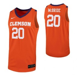 Youth O'Neil McBride Authentic College Basketball Jersey Orange Clemson Tigers