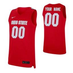 Ohio State Buckeyes Replica Custom Jersey Scarlet