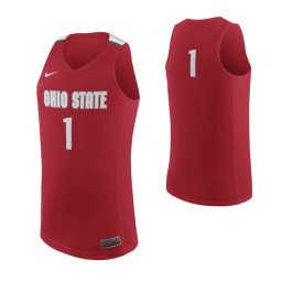 Ohio State Buckeyes #1 Authentic College Basketball Jersey Scarlet