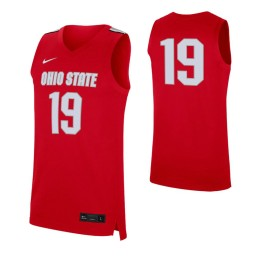 Ohio State Buckeyes #19 Authentic College Basketball Jersey Scarlet