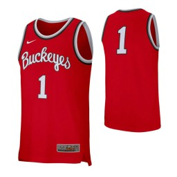 Ohio State Buckeyes # Authentic College Basketball Jersey Scarlet