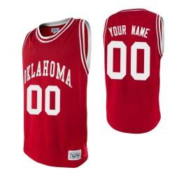 Oklahoma Sooners Custom College Basketball Alumni Jersey Crimson