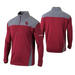 Oklahoma Sooners Crimson Omni-Wick Standard Quarter-Zip Jacket
