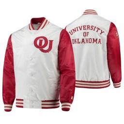 Oklahoma Sooners White Crimson The Legend Full-Snap Jacket