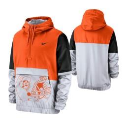 Oklahoma State Cowboys Orange Colorblock Anorak Quarter-Zip Jacket