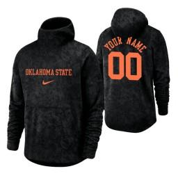 Oklahoma State Cowboys Custom Black Basketball Spotlight Pullover Hoodie