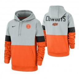Oklahoma State Cowboys Gray Orange Rivalry Therma Performance Hoodie