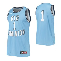 Old Dominion Monarchs #1 Authentic College Basketball Jersey Blue
