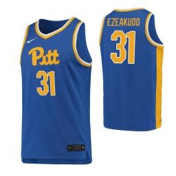 Youth Onyebuchi Ezeakudo Authentic College Basketball Jersey Royal Pittsburgh Panthers