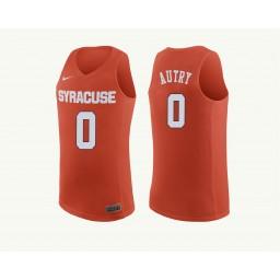 Women's Syracuse Orange #0 Adrian Autry Authentic College Basketball Jersey Orange