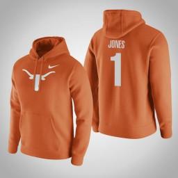 Texas Longhorns #1 Andrew Jones Men's Orange Pullover Hoodie