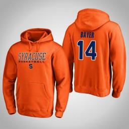 Syracuse Orange #14 Braedon Bayer Men's Orange College Basketball Hoodie