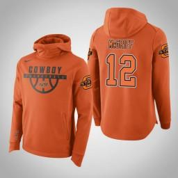 Oklahoma St Cowboys #12 Cameron McGriff Men's Orange College Basketball Hoodie