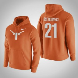Texas Longhorns #21 Dylan Osetkowski Men's Orange Pullover Hoodie