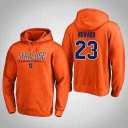 Syracuse Orange #23 Frank Howard Men's Orange College Basketball Hoodie