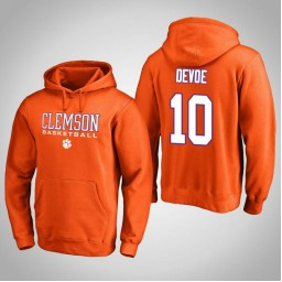 Clemson Tigers #10 Gabe DeVoe Men's Orange College Basketball Hoodie