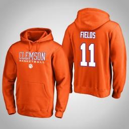 Clemson Tigers #11 Isaac Fields Men's Orange College Basketball Hoodie