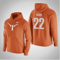 Texas Longhorns #22 Isaiah Hobbs Men's Orange Pullover Hoodie