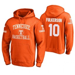Tennessee Volunteers #10 John Fulkerson Men's Orange College Basketball Hoodie