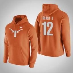 Texas Longhorns #12 Kerwin Roach II Men's Orange Pullover Hoodie