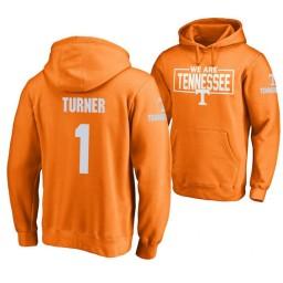 Tennessee Volunteers #1 Lamonte Turner Men's Orange College Basketball Hoodie